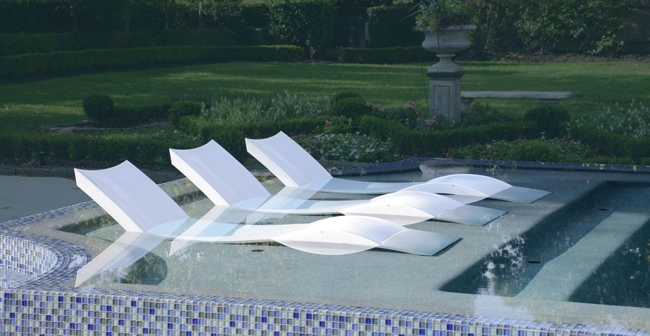 Ledge Lounger – How Cool Is This?! A Lounge Chair Designed To Be For Well Known Pool Chaises (View 3 of 15)