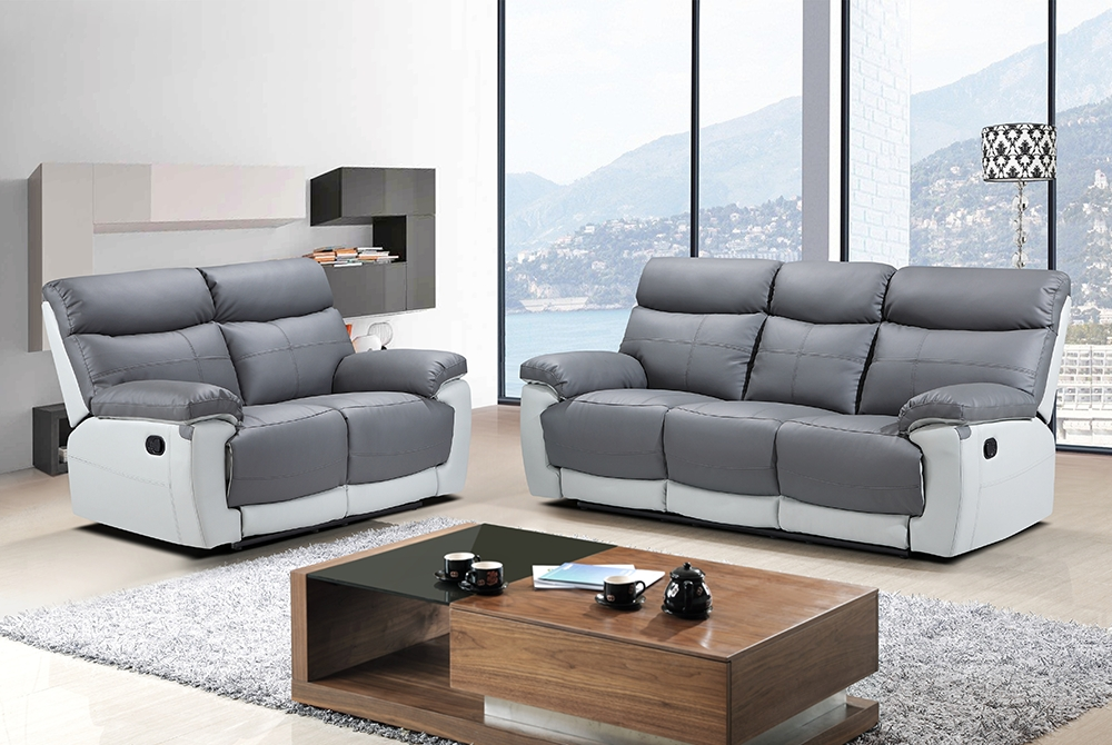 Lexi 2 Seater Recliner Sofa – Grey – We Do Sofas With Fashionable 2 Seat Recliner Sofas (View 7 of 10)