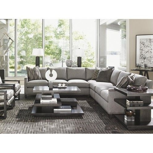 Lexington Carrera Strada Four Piece Sectional Sofa With Nailhead Inside Current Minneapolis Sectional Sofas (View 6 of 10)