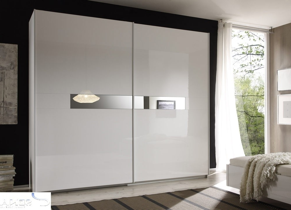 Lidia White High Gloss Wardrobe With Sliding Doors – Wardrobes Inside Well Known White Gloss Wardrobes (View 3 of 15)