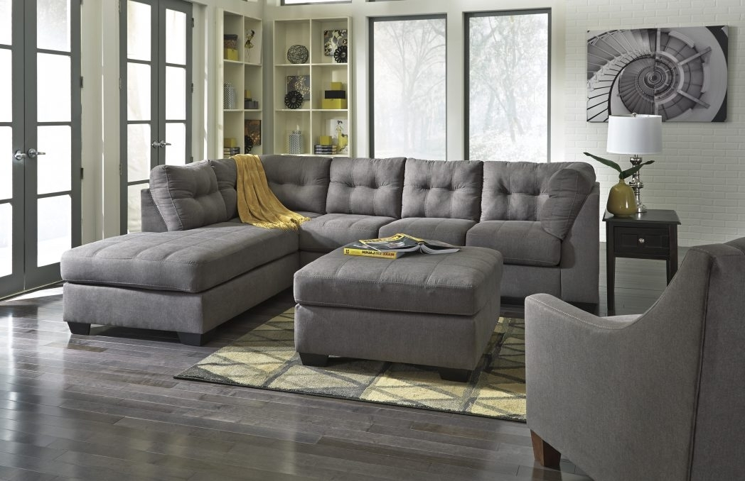 Light Gray Sectional Sofa Divani Casa Jasper Modern Grey Leather Intended For Preferred Quebec Sectional Sofas (View 5 of 10)