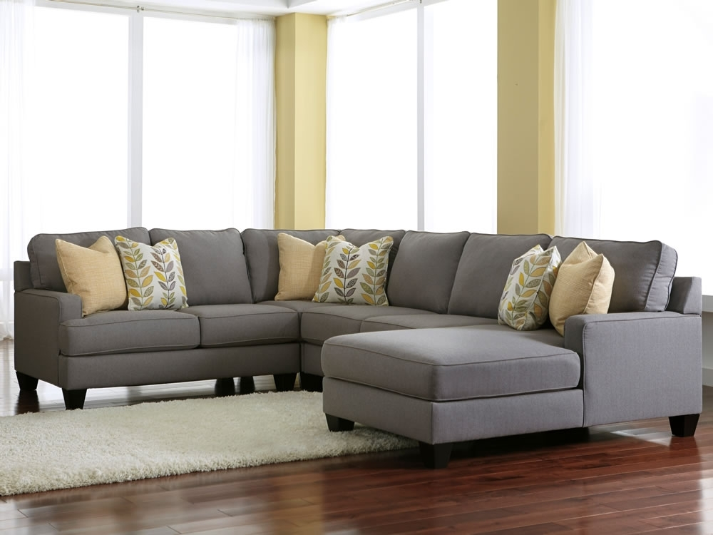 Light Grey Sectional Sofas Regarding Most Popular Comfortable Styling With Gray Sectional Sofa – Pickndecor (View 6 of 10)