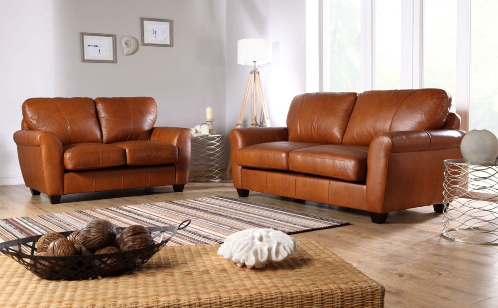 Light Tan Leather Sofas In Well Liked Tan Leather Sofa (View 4 of 10)