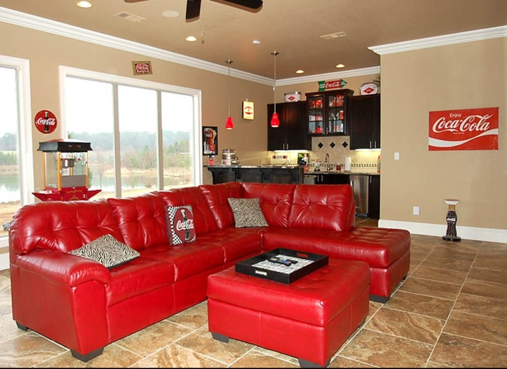 Little Rock Red Sectional Sofa Home Theater Traditional With Throughout Most Up To Date Little Rock Ar Sectional Sofas (View 8 of 10)