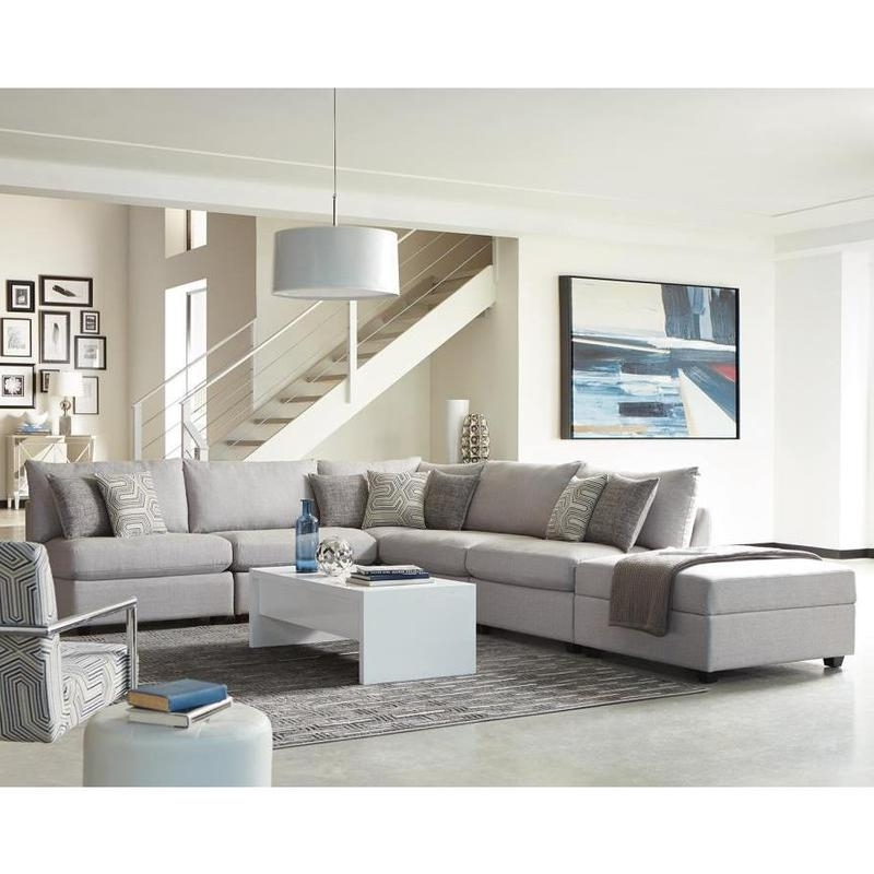 Living Charlotte 551221 Grey Modular Sectional Sofa Pertaining To Well Known Charlotte Sectional Sofas (View 4 of 10)