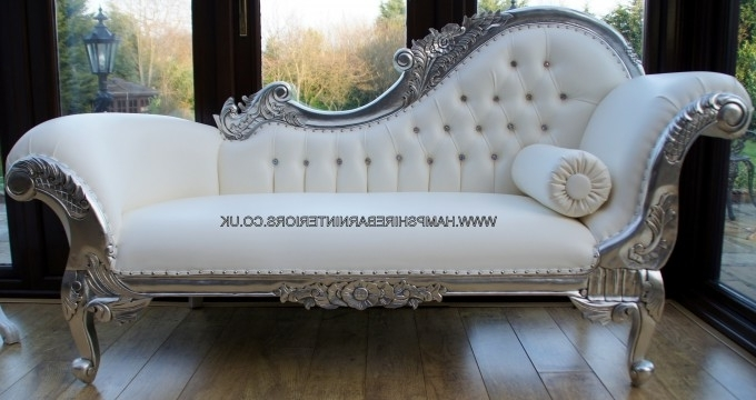 Living Room Design Category : Comfortable Leather Chaise Lounge For Most Popular White Leather Chaises (View 5 of 15)