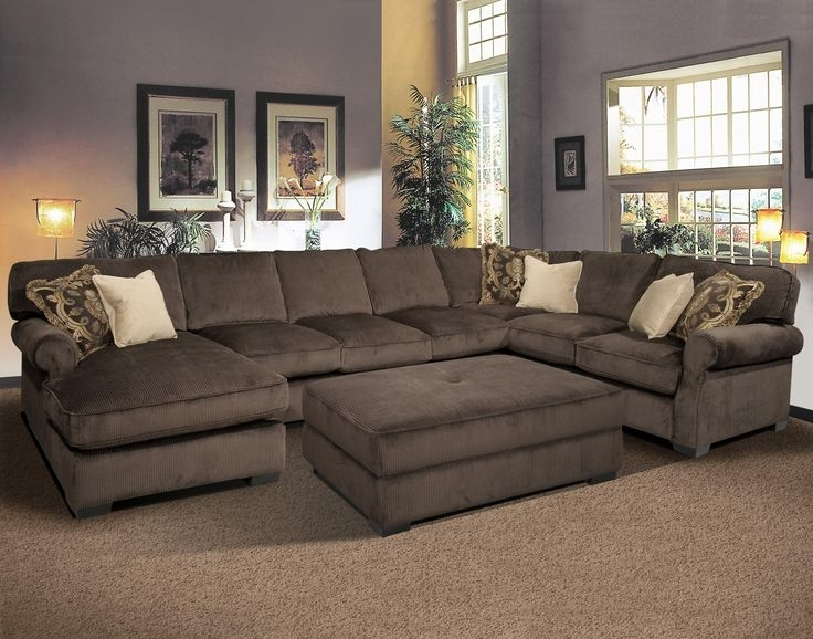 Long Chaise Sofas Intended For Famous Large Sectional Sofas With Chaise Grand Island — The Kienandsweet (View 3 of 10)