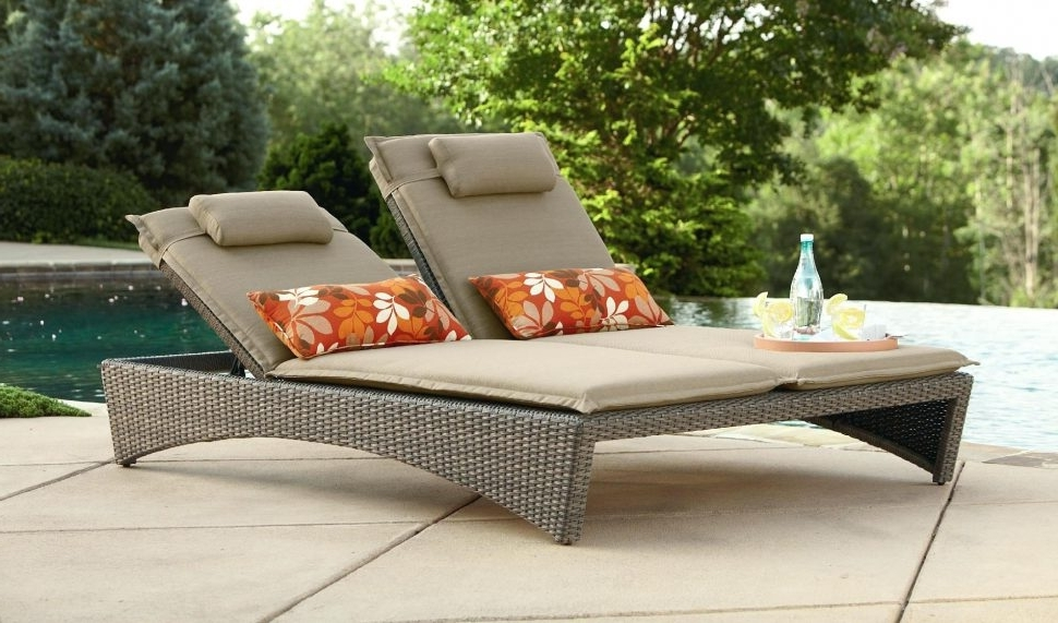 Lounge Chair : Chaise Lounge For Two Chaise Lounge Clearance With Latest Outdoor Chaise Lounge Chairs Under $ (View 6 of 15)