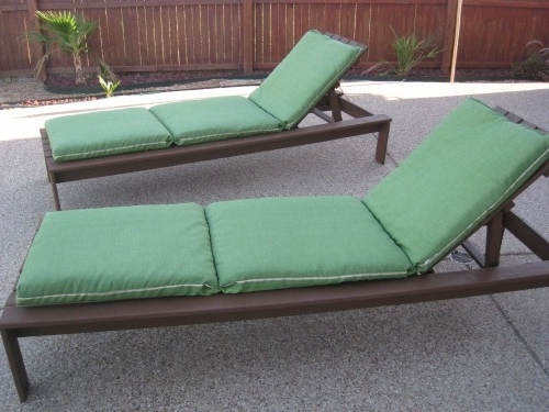 Lounge Chair Cushions, Pallets And Patios Regarding Outdoor Cushions For Chaise Lounge Chairs (View 10 of 15)