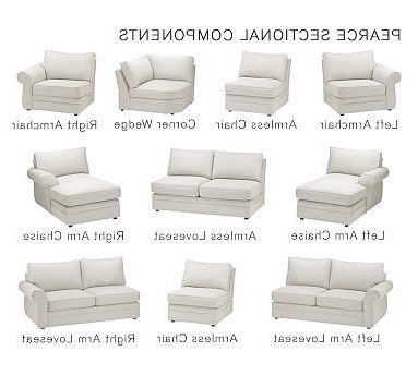 Loveseats With Chaise Throughout Most Recent Pearce Upholstered Armless Chair, Down Blend Wrapped Cushions (View 7 of 15)