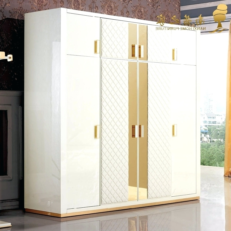 Low Cost Wardrobes Within Newest Wardrobes ~ 2016 Modern White Acrylic Color Contrast Sliding (View 10 of 15)