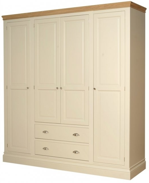 Lundy Painted Bedroom Lundy 4 Door Tall Wardrobe – Wardrobes Intended For Most Popular Tall Wardrobes (View 8 of 15)