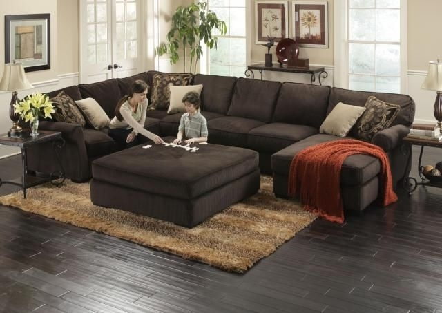Luxurious Amazing Of Sectional Sofa With Ottoman Best Ideas About Intended For Trendy Sofas With Large Ottoman (View 4 of 10)
