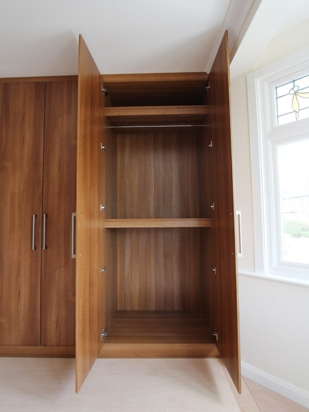 Made To Measure Walnut Wardrobes, Fitted Bedroom Furniture Intended For Most Current Walnut Wardrobes (View 8 of 15)