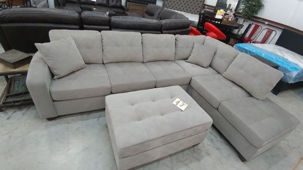Madill Grey Sectional With Ottoman (Furniture) In Killeen, Tx For Most Recent Killeen Tx Sectional Sofas (View 5 of 10)