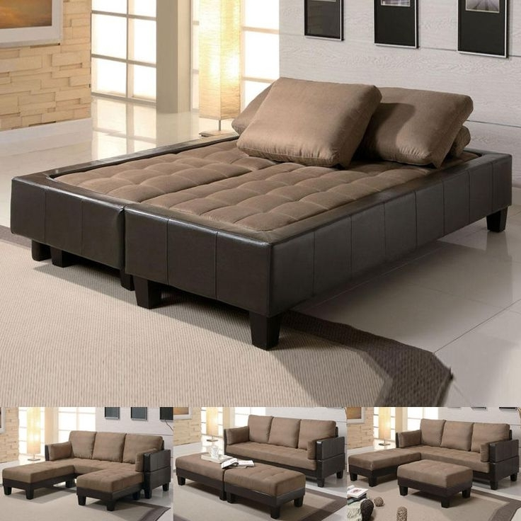 Magic Of Couch Bed Furniture – Pickndecor Regarding Popular Sectional Sofas That Turn Into Beds (View 8 of 10)