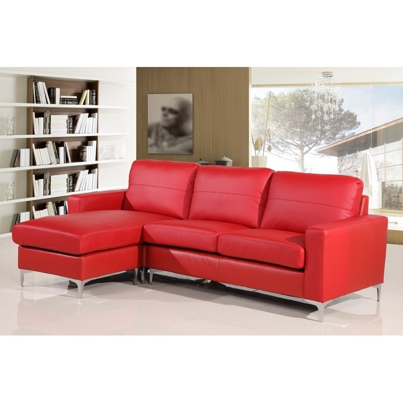 Magnificent Red Leather Sofa Couch 52 In Sofas And Couches Ideas In Newest Red Leather Sectionals With Chaise (View 2 of 10)