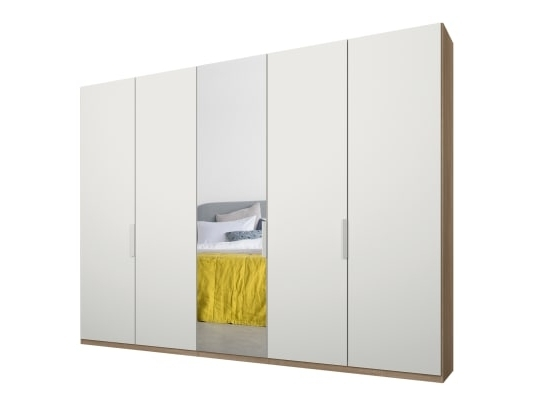 Malix 3 Door 270Cm Sliding Wardrobe, White Frame, White Glass And Within 2017 One Door Wardrobes With Mirror (View 4 of 15)
