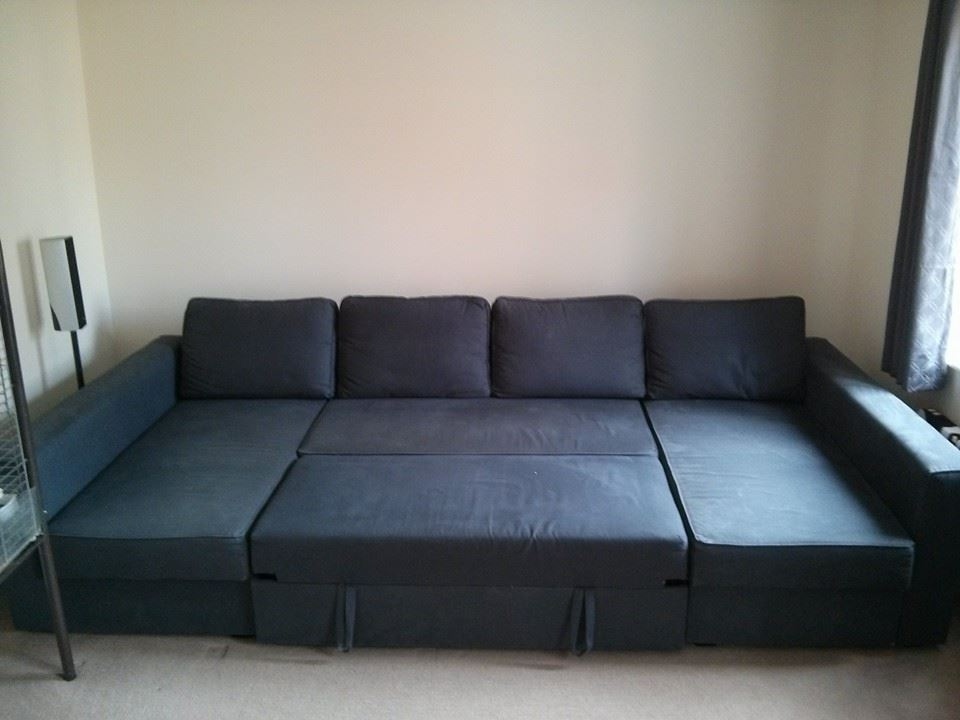 Manstad Sofas Intended For Fashionable Manstad + Manstad = Massive U Shaped Sofabed – Ikea Hackers (View 5 of 10)