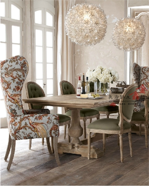 Markor Dining Table Rustic Wood Dining Tables And Chairs Idyllic Inside Fashionable Dining Sofa Chairs (View 6 of 10)