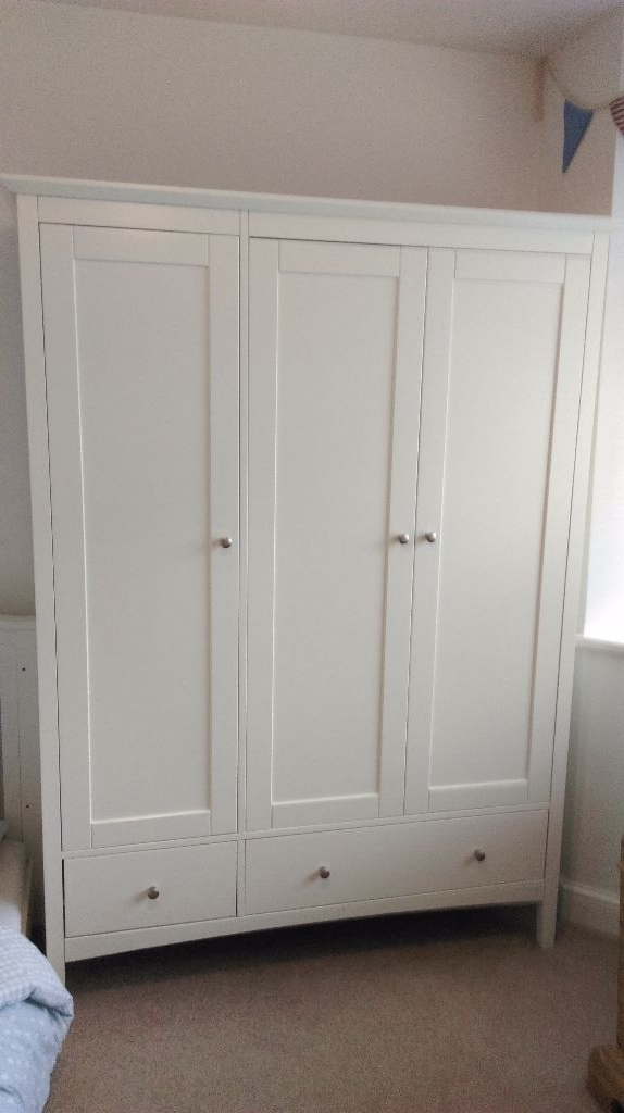 Marks And Spencer Hastings Ivory Triple Wardrobe (View 5 of 15)