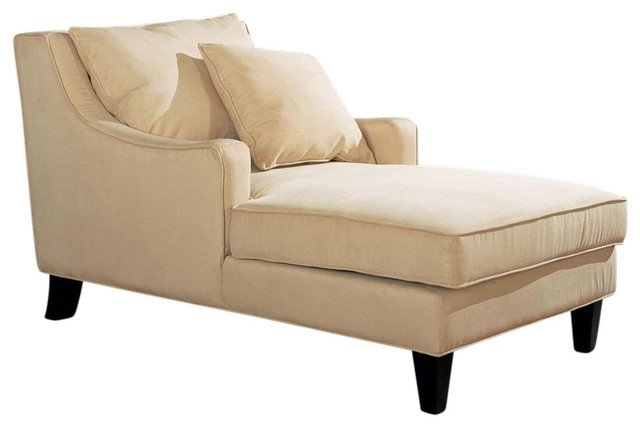 Marvellous Chaise Lounge Chair Indoor Chaise Lounge Chairs Houzz Inside Fashionable Chaise Lounge Chairs For Indoor (View 11 of 15)