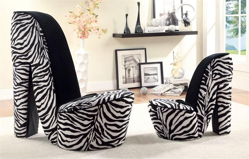 Marvelous Zebra Print Accent Chair 116 Best Images About Animal Regarding 2018 Heel Chair Sofas (View 6 of 10)