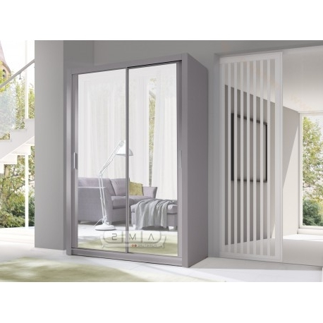 Maya 2 Door Sliding 150cm Wide Full Mirror Wardrobe – Cheap Home Within Well Liked Mirror Wardrobes (View 2 of 15)