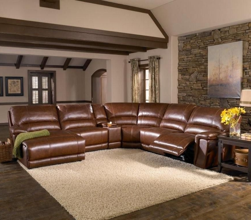 Memphis Tn Sectional Sofas With Favorite Htl Furniture: 2678Cs Reclining Leather Sectional Sofa #den (View 4 of 10)