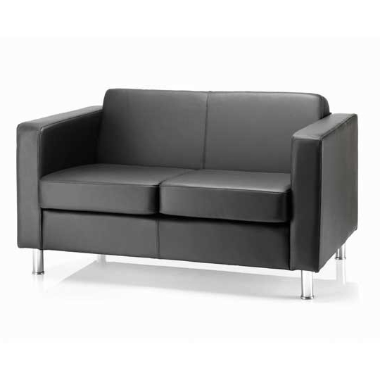 Meridian Office Furniture Within 2017 Black 2 Seater Sofas (View 6 of 10)