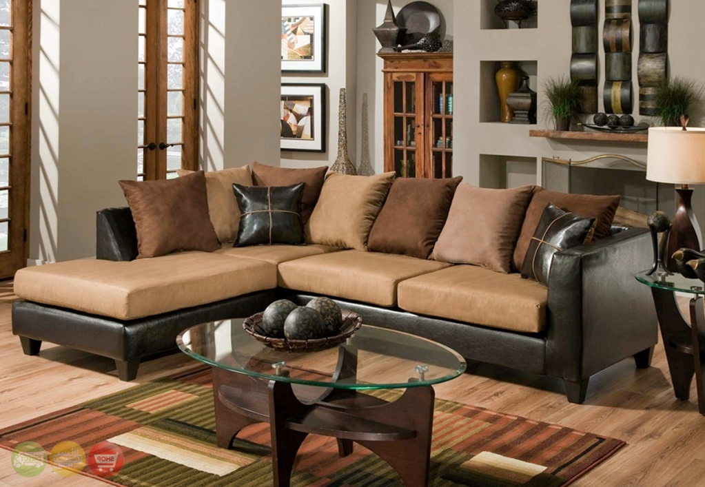 Microfiber Sectional Sofas With Chaise With 2018 Living Room And Furniture (View 7 of 15)
