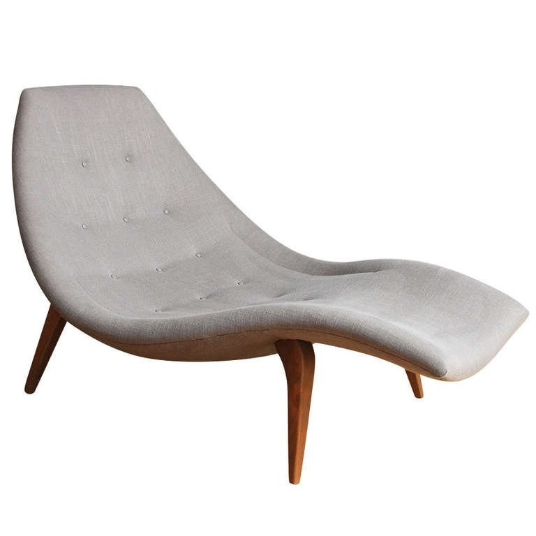 Mid Century Modern Chaise Lounge In The Style Of Adrian Pearsall Pertaining To Preferred Modern Chaise Lounge Chairs (View 5 of 15)
