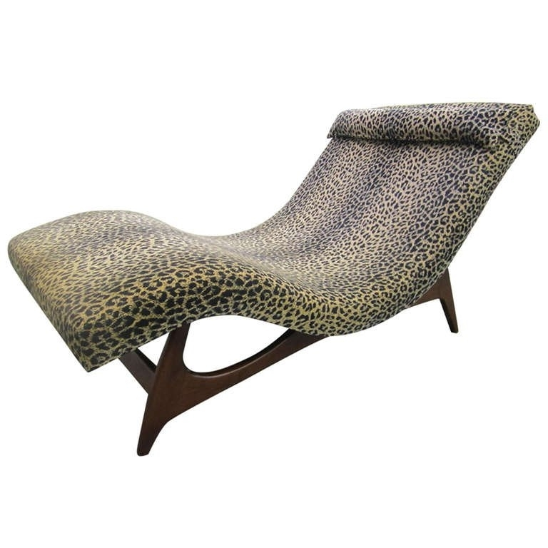 Mid Century Modern Chaise Lounges Intended For Most Recently Released Sleek Adrian Pearsall Wave Chaise Lounge Chair Mid Century Danish (View 9 of 15)
