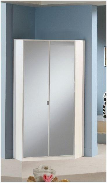 Milano Mirror And White 2 Door Corner Wardrobe – Amos Mann Furniture In 2017 Corner Mirror Wardrobes (View 9 of 15)