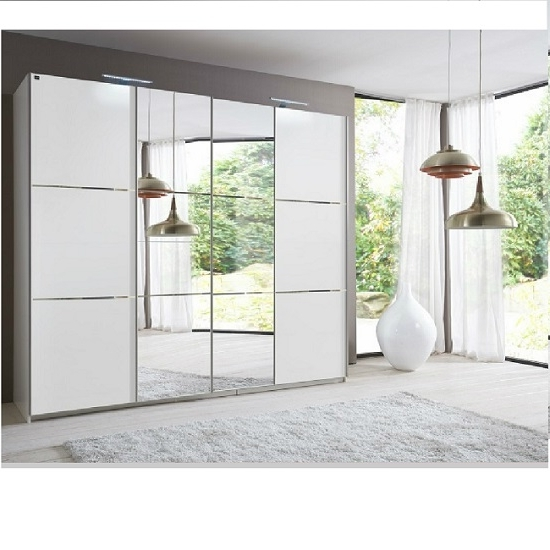 Mirror Design Ideas: Awesome Mirror Door Wardrobes Sale, Sliding For Current White High Gloss Sliding Wardrobes (View 3 of 15)