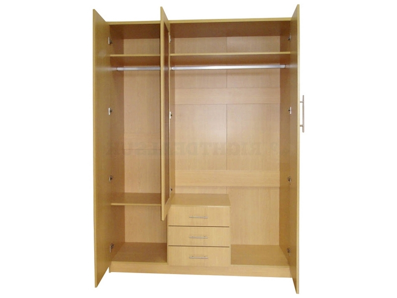Mirror Design Ideas: Las Vegas 3 Door Mirrored Wardrobe Drawer Intended For Preferred 3 Door Wardrobes With Drawers And Shelves (View 11 of 15)