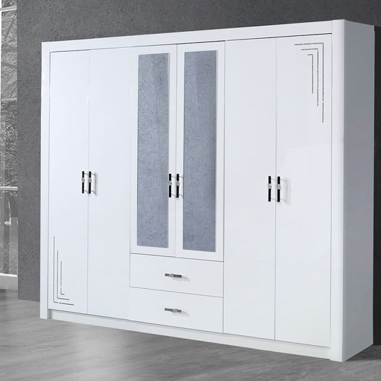 Mirror Design Ideas: Two Panels Mirror Door Wardrobes Sale Glasses Within Best And Newest Cheap White Wardrobes Sets (View 12 of 15)