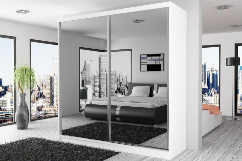 Mirrored Doors Wardrobe 200 Cm Wide Within Most Recently Released Full Mirrored Wardrobes (View 10 of 15)