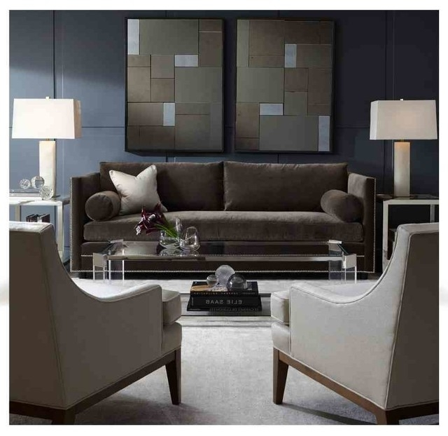 Mitchell Gold Sofas In Famous Bardot Sofa & Aston Mirrors – Modern – Charlotte  Mitchell (View 3 of 10)