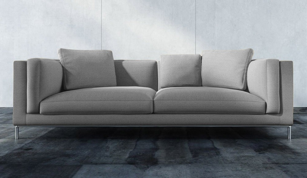 Modern 3 Seater Sofas With Regard To Well Liked Titus 3 Seater Sofa – Modern Design – Delux Deco Uk (View 6 of 10)
