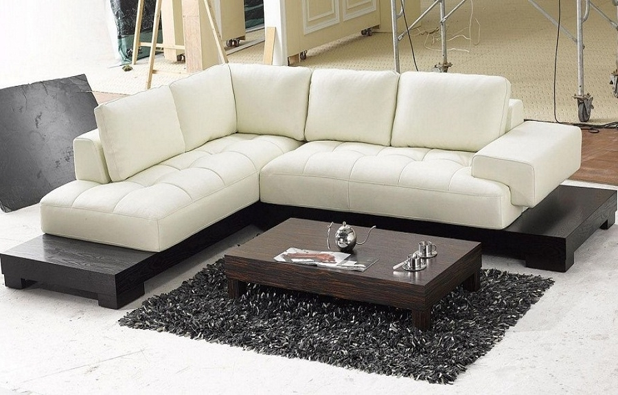 Modern Beige Leather Sectional Sofas, Modern Sofa Sets, Cheap With Regard To Well Known Modern Sectional Sofas (View 3 of 10)
