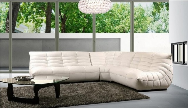 Modern Comfortable Leather Sectional Sofa – Modern – Living Room Pertaining To Most Recently Released Comfortable Sectional Sofas (View 6 of 10)