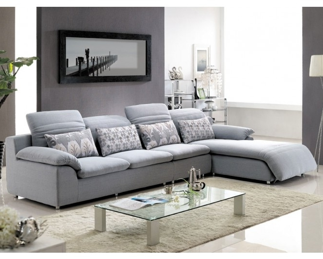 Modern Fabric Sectional Sofa Sets – Elites Home Decor Pertaining To Well Liked Fabric Sectional Sofas (View 8 of 10)