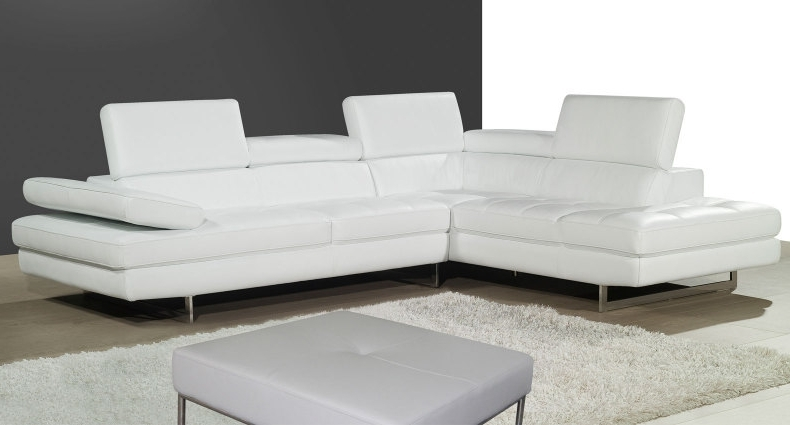 Modern Leather Corner Sofas Create The Wow Factor In Your Home Regarding Famous White Leather Corner Sofas (View 3 of 10)