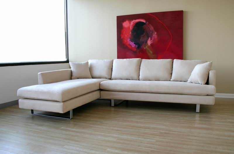 Modern Microfiber Sectional Sofas Regarding Favorite Microfiber Modern Sectional Sofa – $1, (View 6 of 10)