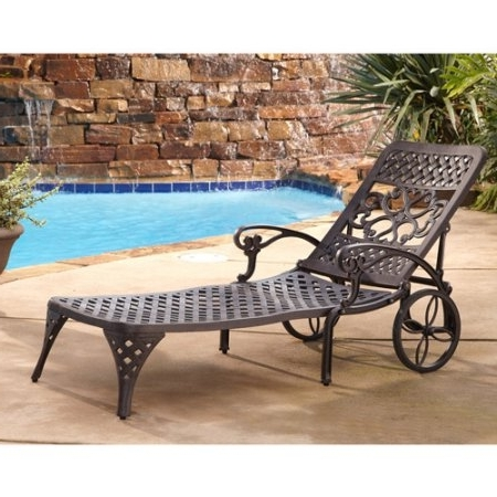 Modern Outdoor Chaise Chairs And Home Styles Biscayne Outdoor Pertaining To Fashionable Chaise Lounge Chairs At Walmart (View 8 of 15)