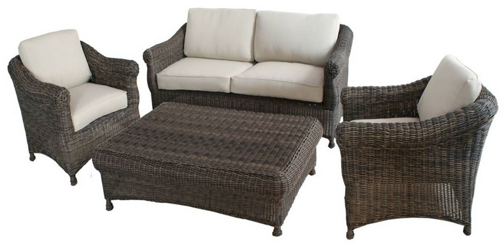 Modern Outdoor Garden Furniture Rattan Sofa 4Pcs Set Omr F123 For 2018 Outdoor Sofa Chairs (View 6 of 10)
