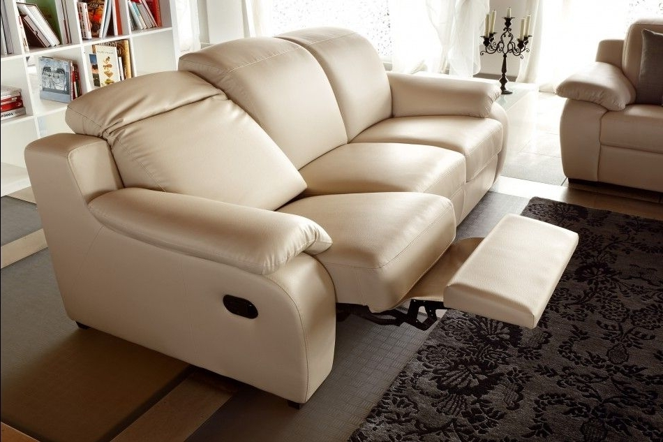 Modern Reclining Leather Sofas Within Most Popular Modern Reclining Sofa Beige : The Holland – Modern Reclining Sofa (View 7 of 10)