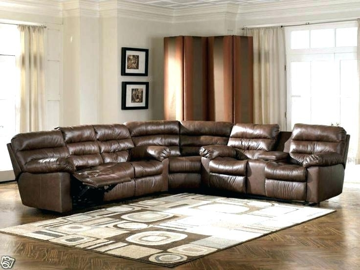 Modern Sectional Recliner Leather Sofa Reclining Sofas With Chaise In Most Current Genuine Leather Sectionals With Chaise (View 8 of 15)