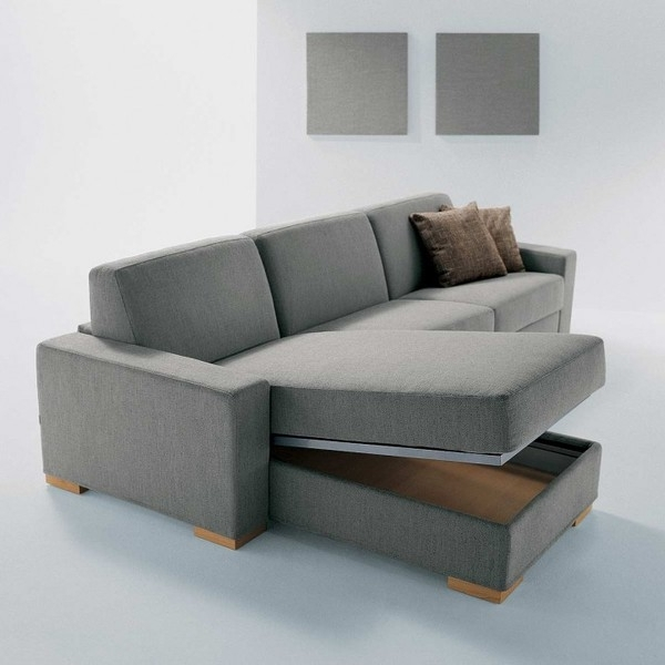Modern Sofa With Chaise Lounge And There Are Secret Storage Throughout Best And Newest Sectional Sofas With Storage (View 1 of 10)